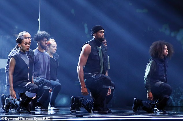 Divisive: Diversity's routine, which narrated the killing of unarmed black man George Floyd in May, had already polarised fans of the mainstream talent show on Saturday night due to its overtly political stance