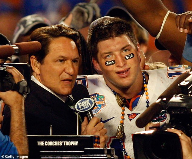 Tebow, pictured in college, often woreJohn 3:16 from The Bible on his face. When Tebow finished a 2011 game with 316 yards passing, fans took it as a sign from God