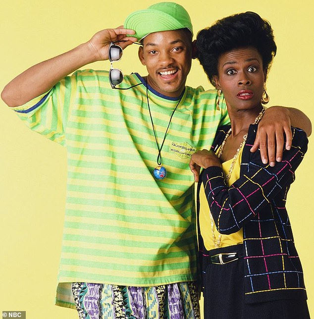 The way they were:Janet, 64, played Aunt Viv on the first three seasons of the sitcom but left in 1993, setting off a public war of words with Will and the collapse of her career