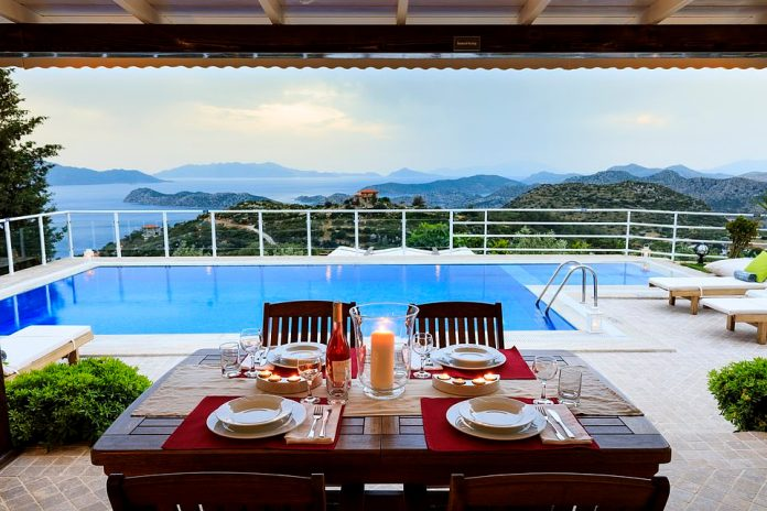 Pool with a view: Zeytin Ev villa has a beautiful backdrop. It is located in the village of Sogut, which has a boat-building heritage
