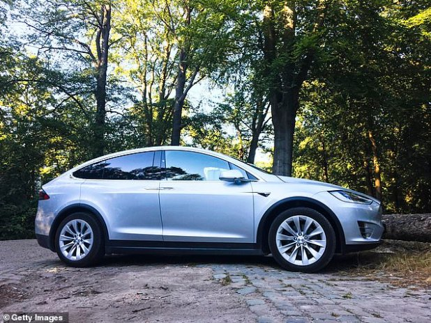 Four fatal accidents and even more close calls followed the group's antics while using the autopilot system on Tesla's so-called driverless cars.  Painted futuristic Tesla Model X electric car