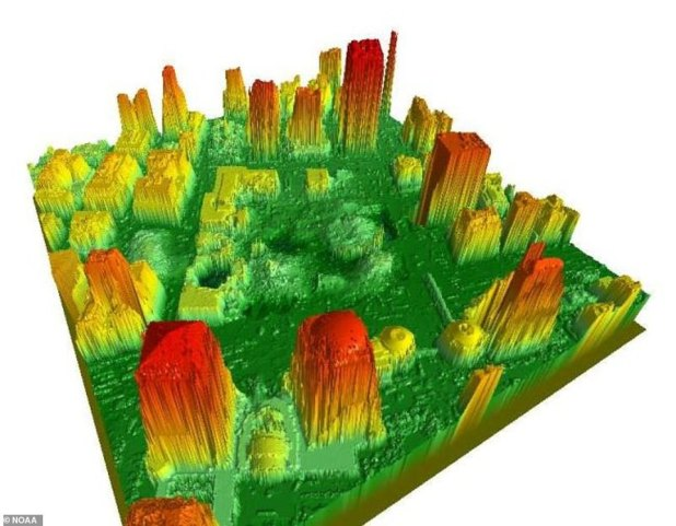The National Oceanic and Atmospheric Administration (NOAA) offered its services to the authorities after the attacks, but created a 3D model of the surrounding area.  The organization used LIDAR (Light Detection and Ranging) to create a digital surface model to help locate structures, including ladders, lift shafts, and basements.