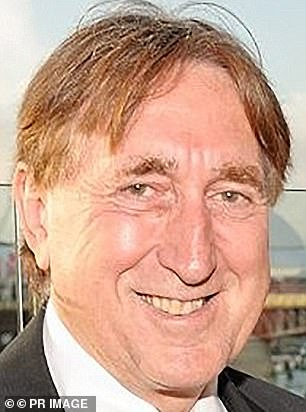 John Edwards (pictured), 67, stalked his wife Olga, 36, and perved on other women at her yoga classes before being banned from the studio.