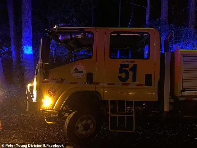 The Guanaba Rural Fire Service truck. There are concerns rural fire brigades, which are run by volunteers, do not have enough funding to battle bushfires