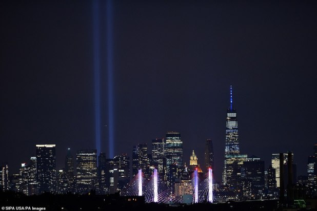The Tribute in Light is like the photos seen from the New York Borough of Queens