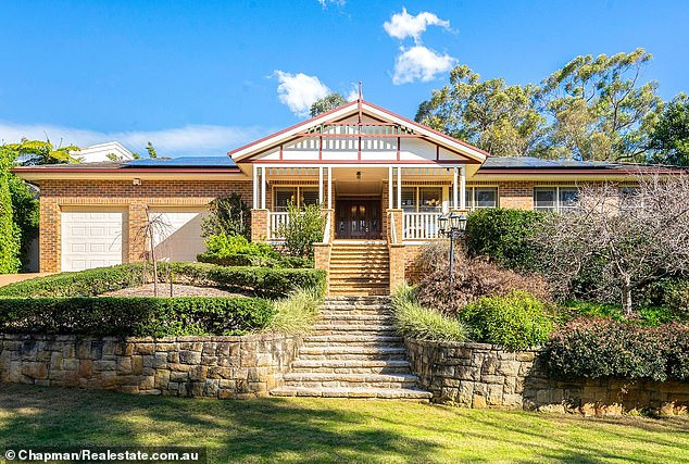 Pictured: A home in Glenbrook, about 70 kilometres west of the Sydney CBD