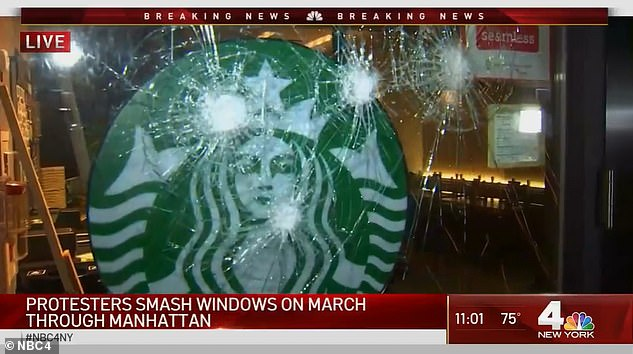 Kraebber and others are accused of vandalism during a BLM protest. Destruction was roughly $100,000 in damages to at least five banks, two Starbucks and a Duane Reade pharmacy