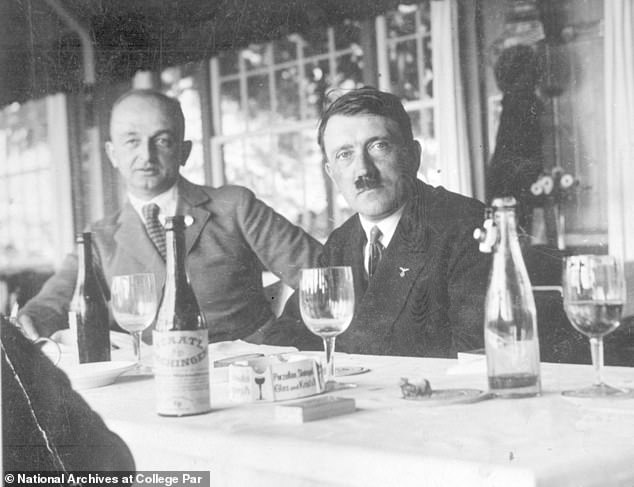 Foote noticed that Hitler's personal guards were lax on security when the Führer dined at one of his favourite Munich restaurants, the Osteria Bavaria (above)