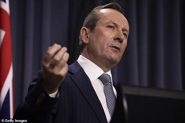 WA Premier Mark McGowan (pictured) backed Commissioner Dawson's decision. Western Australia has bought 200 monitoring anklets for the coronavirus pandemic