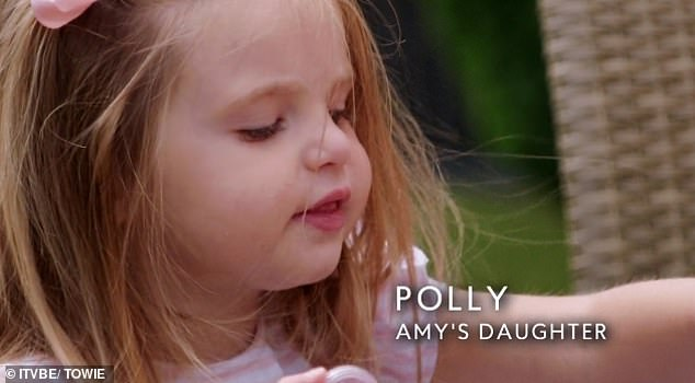 Ambitious: Chat soon turns to Polly's future where Amy reveals that she wants her daughter to become a lawyer