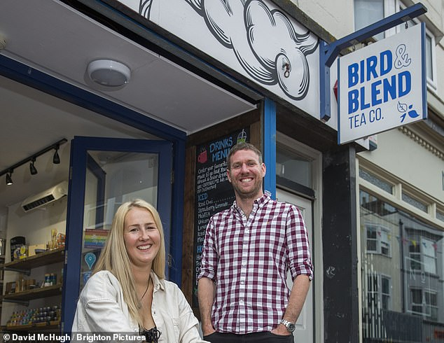 Setting new goals : Bird and Blend¿s Krisi Smith and Mike Turner outside their shop
