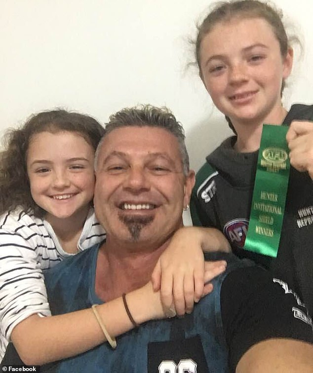 Diamond (pictured with two of his three daughters) proceeded to make a miraculous recovery that stunned surgeons and saw him completely avoid the need for a heart transplant