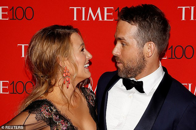 Partner in crime: Ryan's wife Blake Lively took the photos of Ryan as he got back to work on the action movie