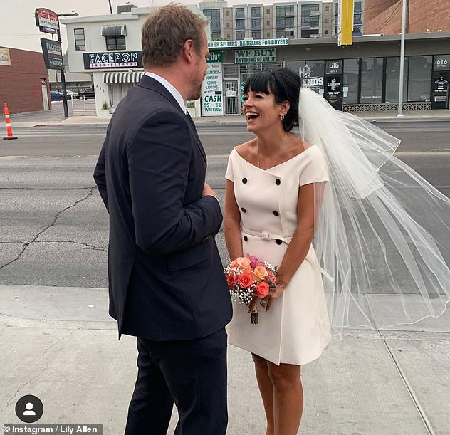 Loved: The singer received a lovely collection of roses from her designer label friends after announcing she married David at the Graceland Wedding Chapel in Las Vegas