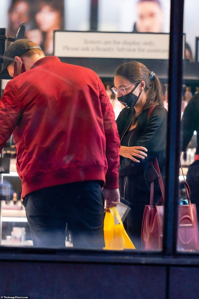 Roberts was inside the store with his politician girlfriend as she browsed the aisles