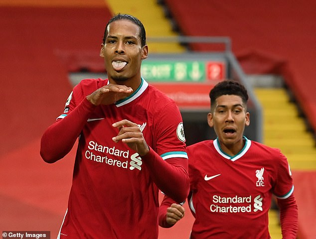 Van Dijk was also on target with a crashing header but made a mistake for Leeds second goal