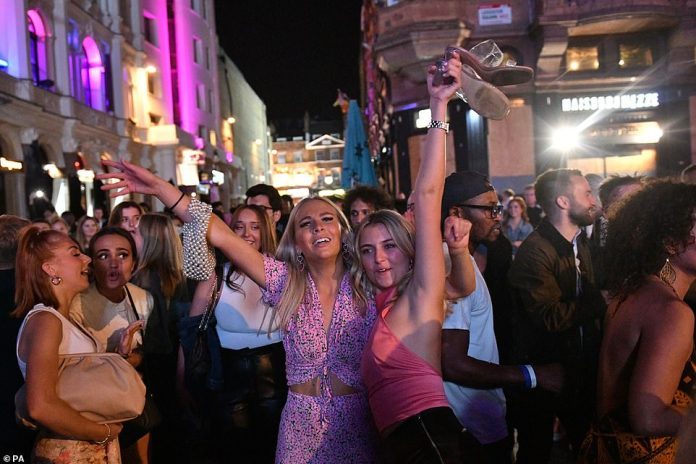 LONDON: People enjoying a night out in Leicester Square in London's West End
