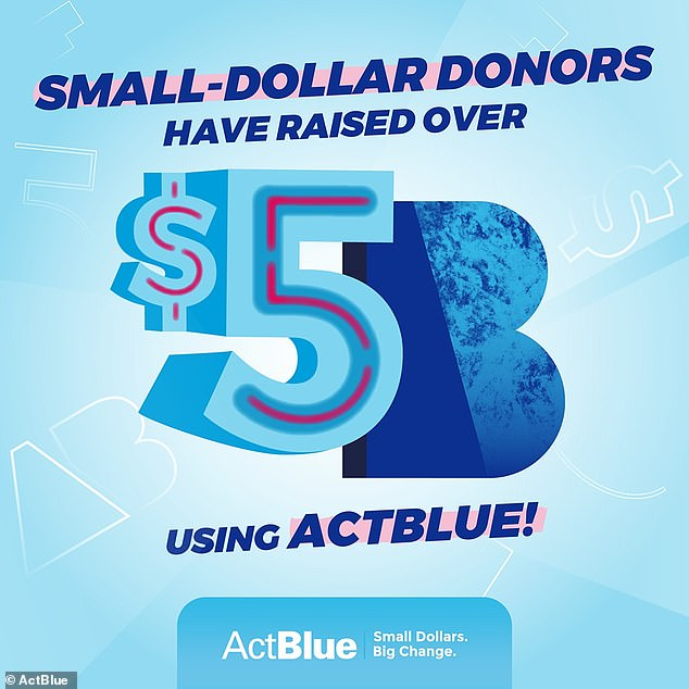 The Take Back Action Fund says it has analyzed computer data that shows almost half of all donations made to ActBlue in 2019 totaling some $346million were done by people claiming to be unemployed