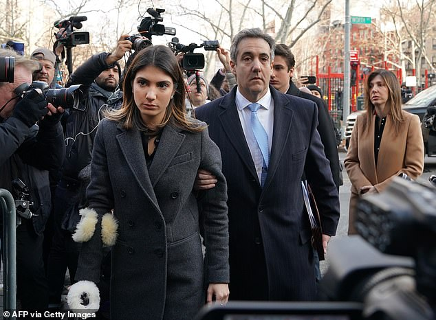 Michael Cohen claimed that Donald Trump made comments about his daughter's looks when she was just 15 years old in 2012.Samantha is pictured with her father outside court in 2018 when he was sentencedto three years in prison