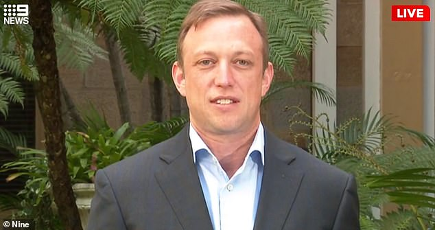Queensland recorded zero new coronavirus cases on Sunday. The state's deputy premier Steven Miles (pictured) accused Scott Morrison of running a 'campaign' to open the borders