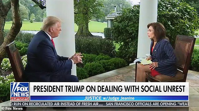 Trump told Fox News on Saturday night 'that's the way it has to be' after Reinoehl was shot by Marshalls. He is suspected of killing of Patriot Prayer supporter Aaron Danielson, August 29