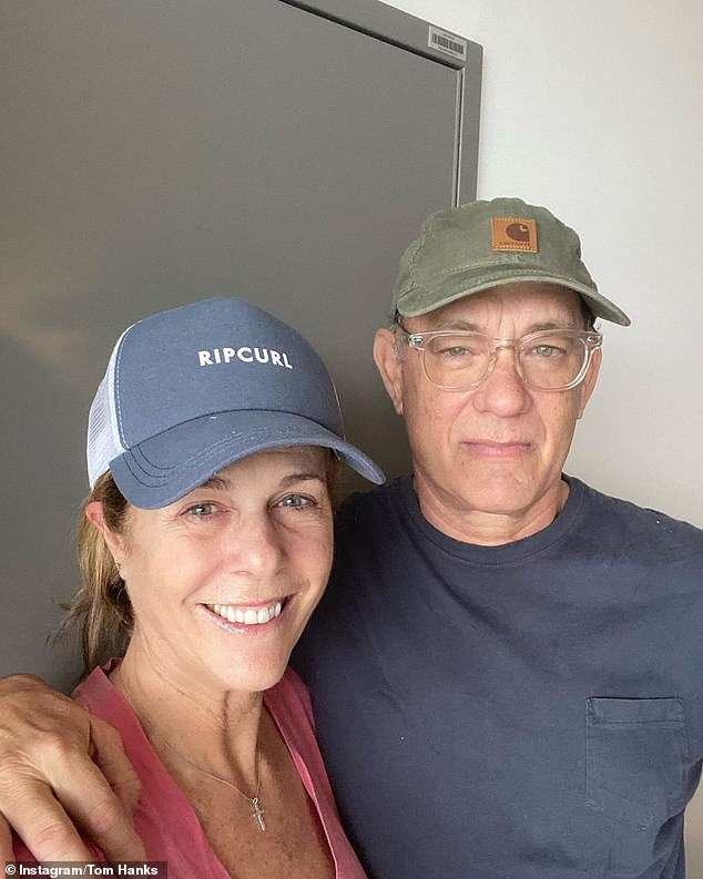 Hollywood actor Tom Hanks (pictured with his wife Rita Wilson) was granted permission to skip hotel quarantine when he arrived on the Gold Coast last Tuesday