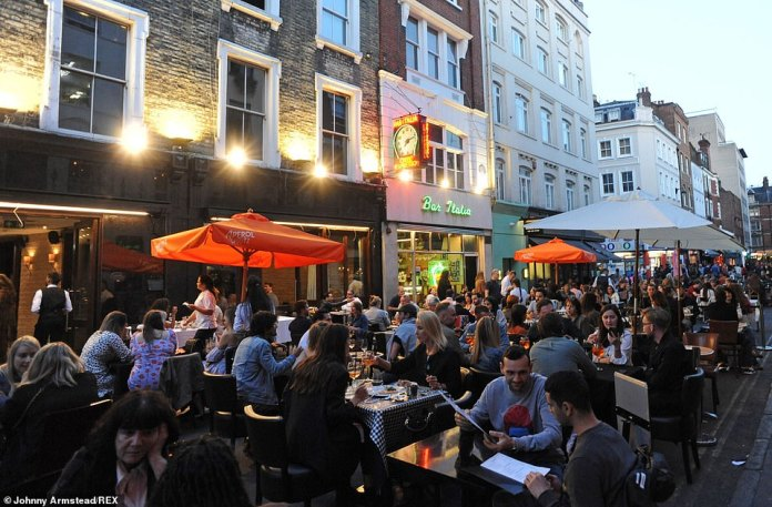 LONDON: Revellers enjoy a night of freedom in Soho tonight ahead of the government's new rule of six which comes into force from Monday