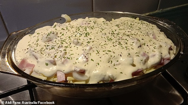A savvy home cook has used theMediterranean Delite garlic dip from Aldi to add a burst of flavour to her potato bake