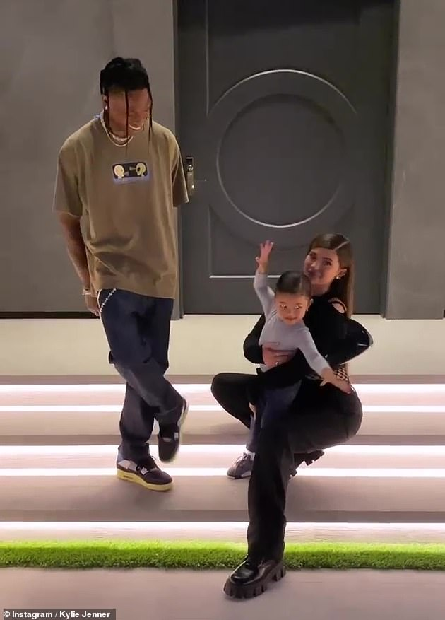 Bundle of joy: Make-up mogul Kylie, 23, shares her only child, daughter Stormi, with hip-hop star Travis Scott