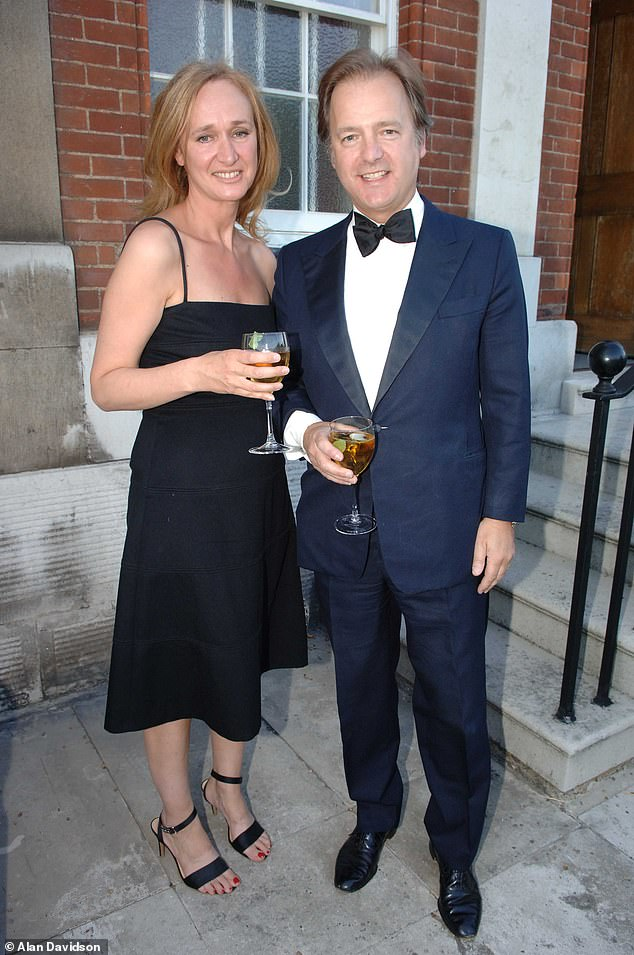Sasha Swire, the wife of former Tory MP Sir Hugo Swire (pictured together), will reveal her experiences inside the world of politics in her new book .
