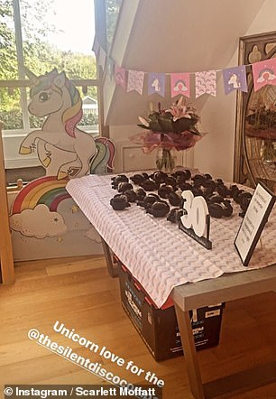 Snacks: Chocolate cupcakes, fruit and cheese were presented to guests