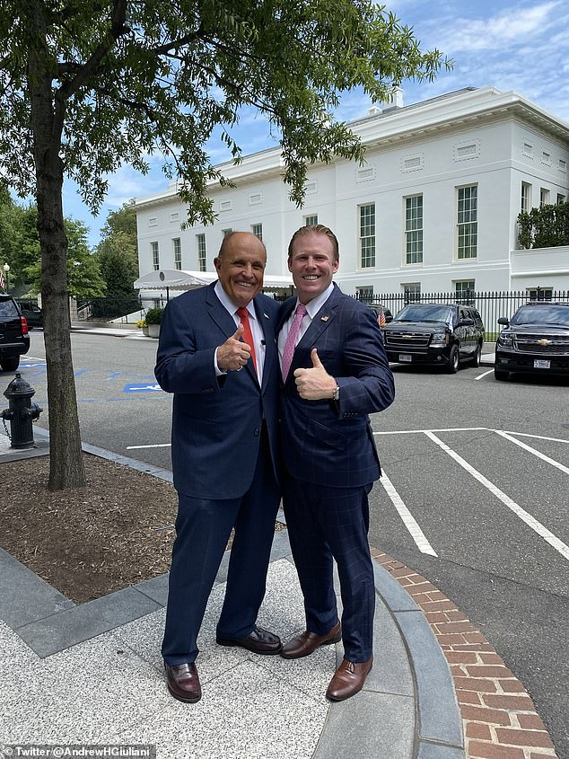 The Giuliani family may return to Gracie Mansion in 2021 as Andrew Giuliani (right), the son of Rudy Giuliani (left), said he has considered running for mayor