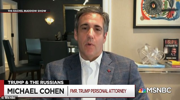 Michael Cohen says President Donald Trump believed Russian leader Vladimir Putin was behind the sale of his languishing Palm Beach mansion that saw him pocket a $54million profit in 2008