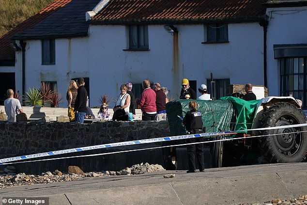 Locals gathered behind the cordon to watch the blast.A 50 metre cordon was put in place around the blast and nearby roads were also shut