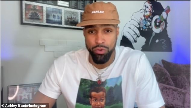 Grateful: Ashley originally began his video by thanking those who had supported Diversity and had shared positive messages and well wishes