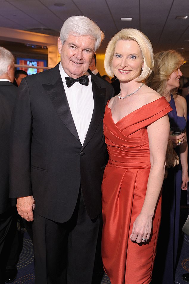 Newt married Callista, his third wife, in a private ceremony in Alexandria, Virginia in August 2000