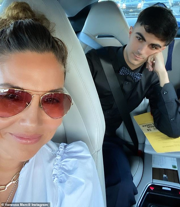 Kassius: Vanessa poses for a selfie with 18-year-old Kassius with whom she shares with Green even though they had a nasty custody battle that resulted with Green allegedly cutting him out of his life in 2013