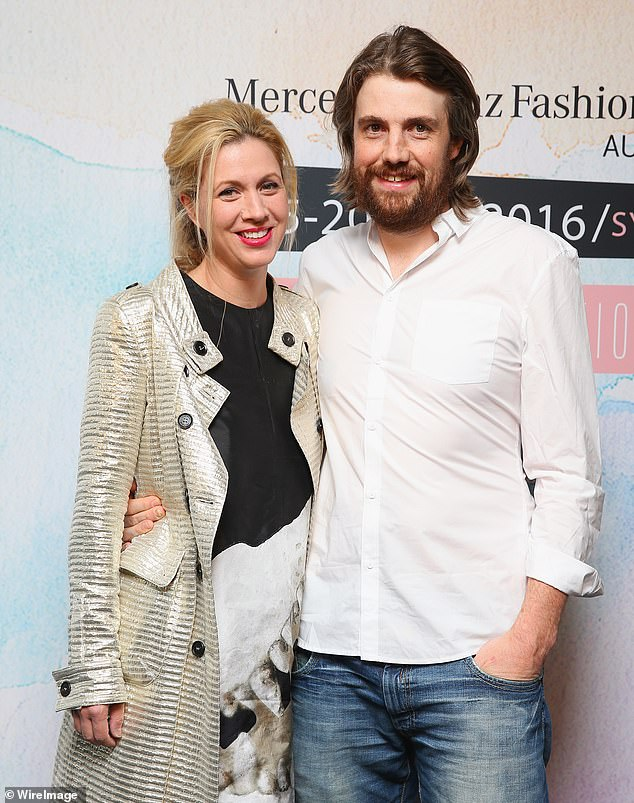 Software billionaireMike Cannon-Brookes pictured with his wife Annie. He has been listed as a 'special interest' by a Chinese firm which has compiled the data of 35,000 Australian figures