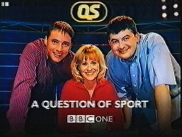 The show, which was first broadcast in 1970, has always had a loyal viewership of around three to four million per episode but has failed to attract young viewers. Ms Barker is pictured here in 1998 with the then team captains - footballer Ally McCoist, left, and snooker star John Parrott