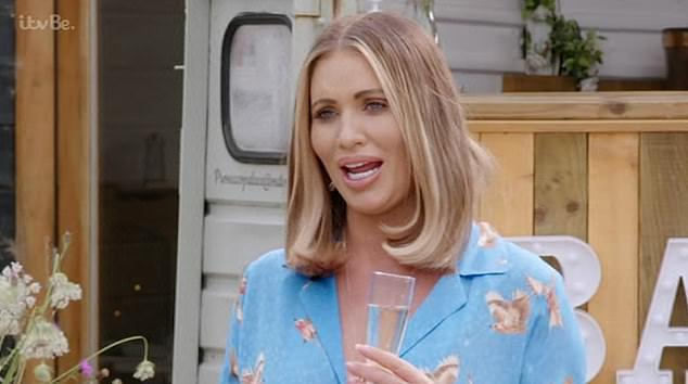 Making amends:Amy Childs, 30, finally put her six-year feud with Bobby Norris, 34, to bed as she made her return to TOWIE on Sunday for the new series