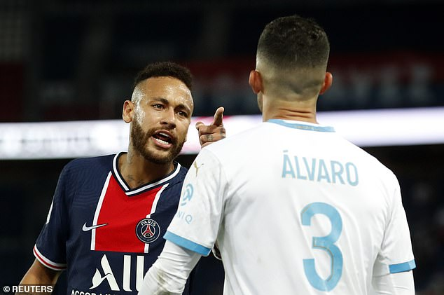 Neymar and Marseille defender Alvaro Gonzalez launch into a war of words  after racism allegation | Daily Mail Online