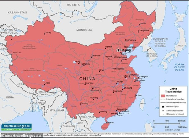 The government travel advice website Smartraveller (pictured) was updated on 7 July to warn Australians facing the risk of arbitrary detention in China