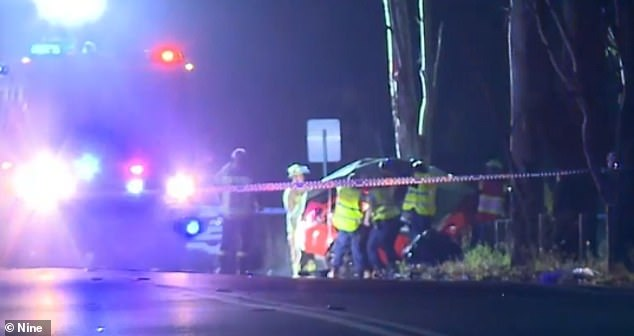 When emergency crews arrived, the two people inside the vehicle could not be saved