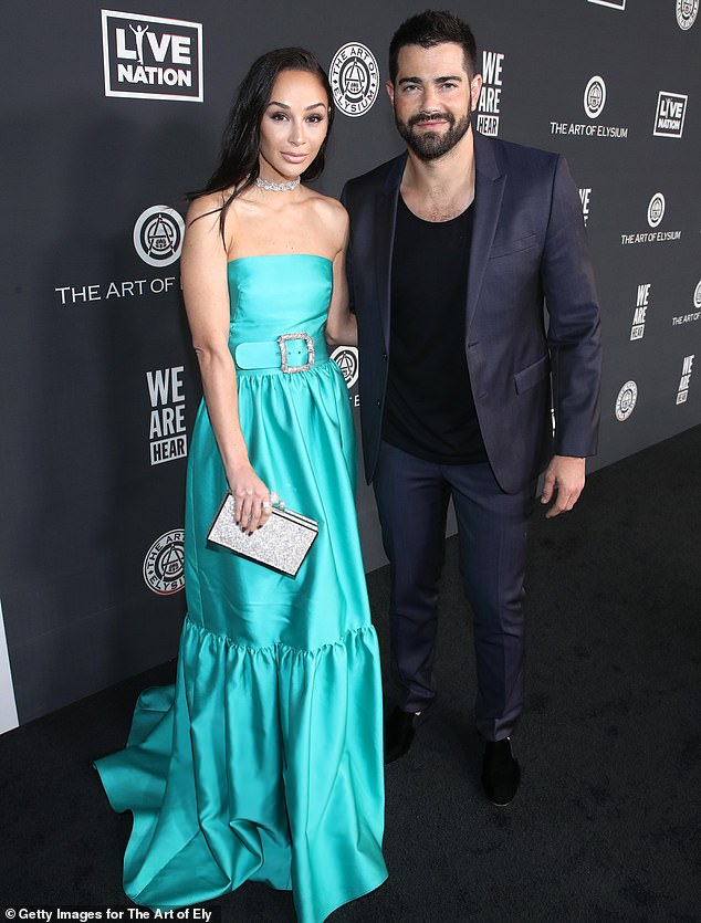 Former couple: Jesse Metcalfe and Cara, shown in January in Los Angeles, called off their engagement earlier this year