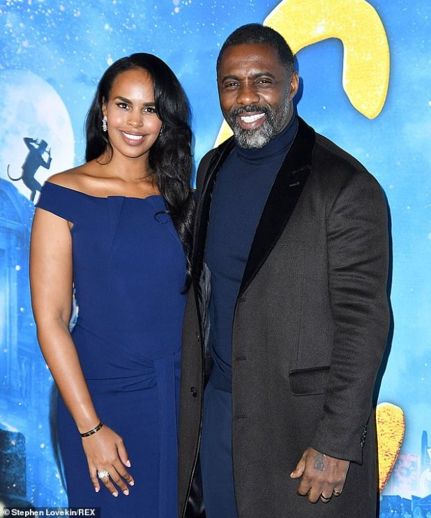 No children: Elba, 48, married third wife Sabrina Dhowre in April 2019 (pictured December 2019).  A source clarified that Elba has a Godson and is the one he was referring to in his comment