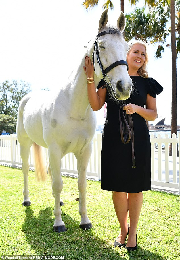 Giddy up! Samantha, who grew up living on a sheep station in the Snowy Mountains of New South Wales, has long had an affinity to horses