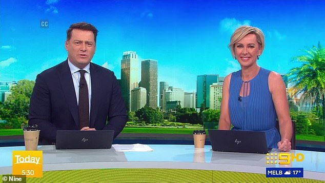 Awkward reunion between Deb Knight and Karl Stefanovic as they co-host Nine's Today show after THAT Freddy Krueger comment