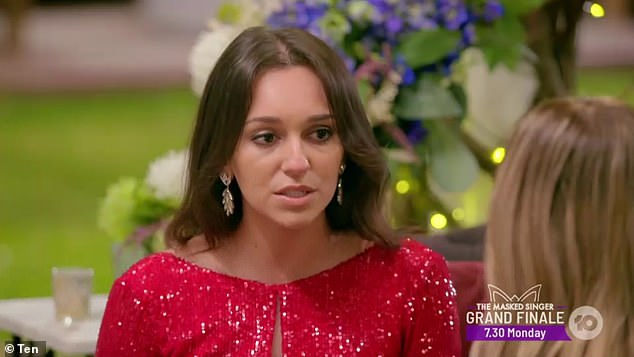 'I'm grateful it all got brought to the surface': The Bachelor's Bella Varelis (pictured) has said she doesn't regret her tense confrontation with Irena Srbinovska as she 'tipped her over the edge'