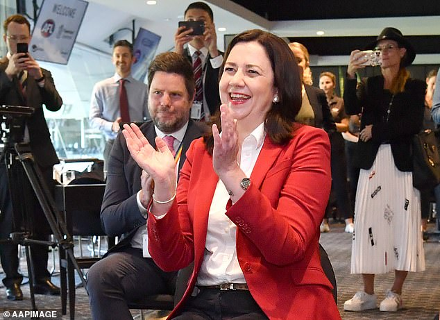 Premier Palaszczuk cheered and wooped when Brisbane was granted the AFL final and she let hundreds of staff enter the state - while keeping ordinary families apart