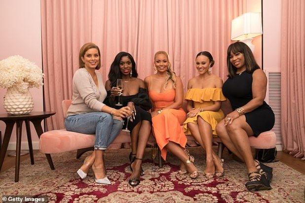 Out and About: Ashley joins Ashley (LR) Robin Dixon, Wendy Osefo, Giselle Bryant and Chrissy-Jordan on Saturday for Bryan's birthday in Washington, DC.
